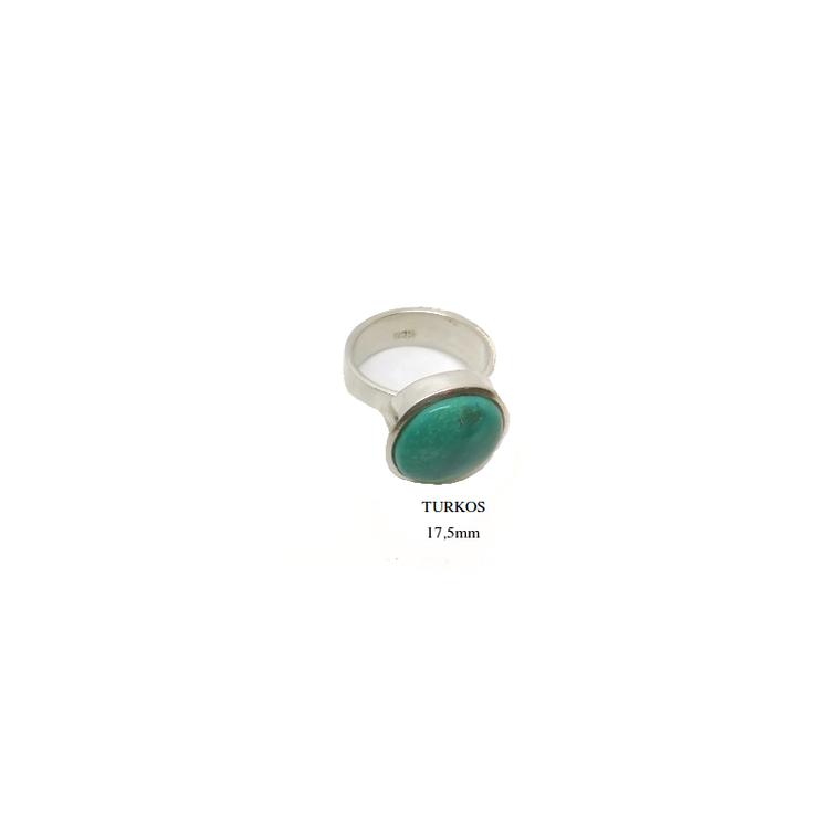 Ring i silver med rund sten