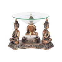Aromalampa-Buddha bronsfärgad