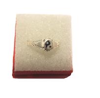 Ring  i silver med Yinyang symbol