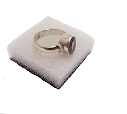 Ametist ring i silver