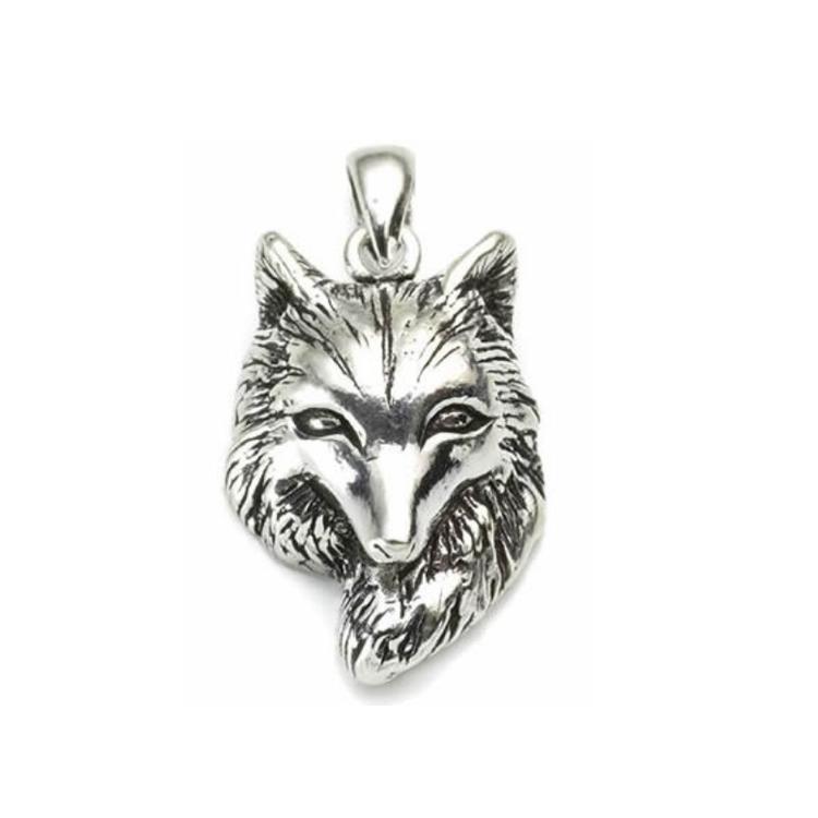 Hänge - Varghuvud, silver