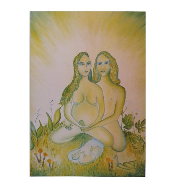 Gudinnekort- 14x20cm