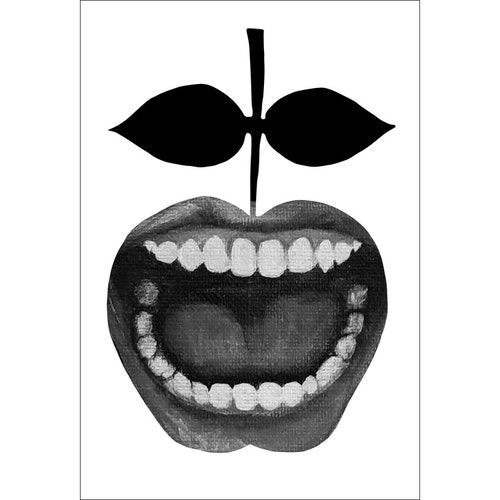 Konsttryck Passion svartvit 30x42 cm