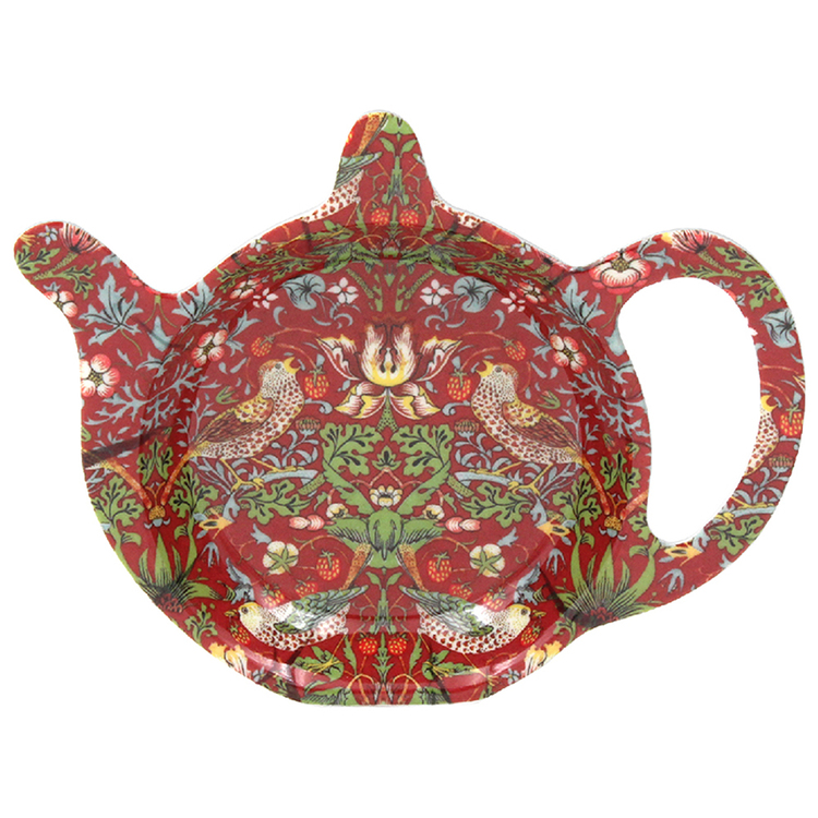 Tepåsfat - William Morris Red Strawberry Thief