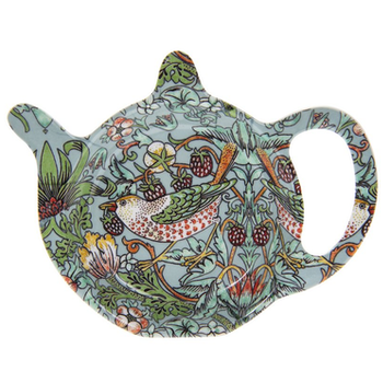 Tepåsfat - William Morris Teal Strawberry Thief
