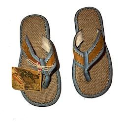 Sandal, vävd botten Ljusblå - SoleRebels