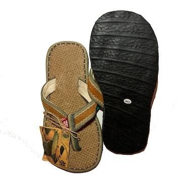 Sandal, vävd botten Grön- SoleRebels