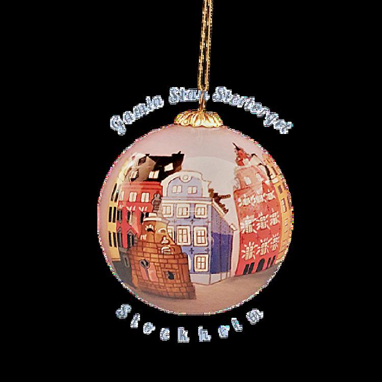 Handmålad julkula Gamla Stan