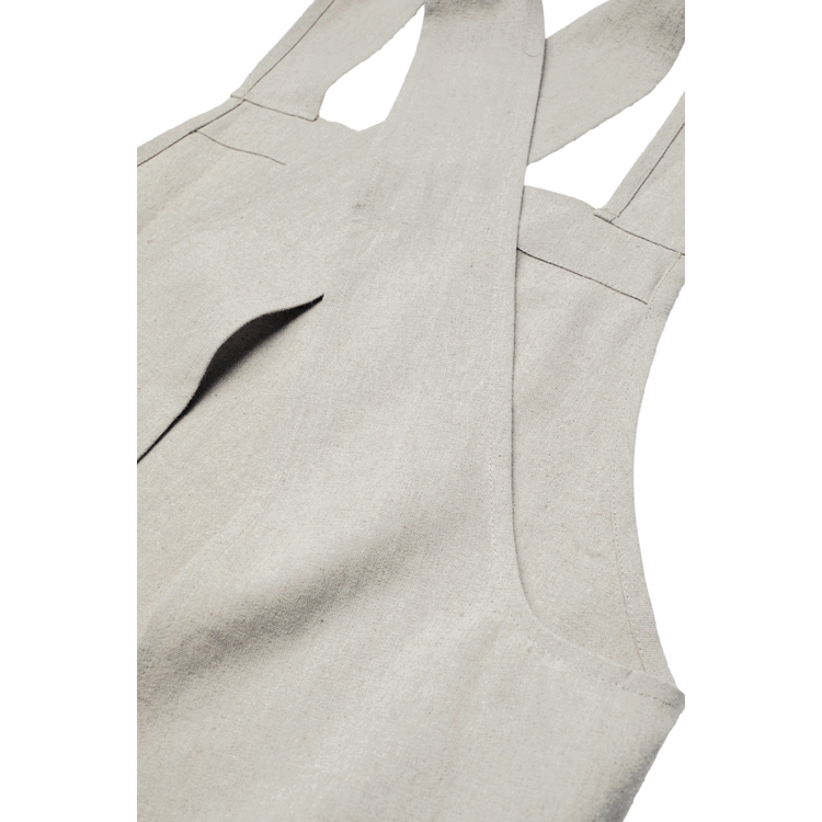 Förkläde Helen grå/vit chambray ♻