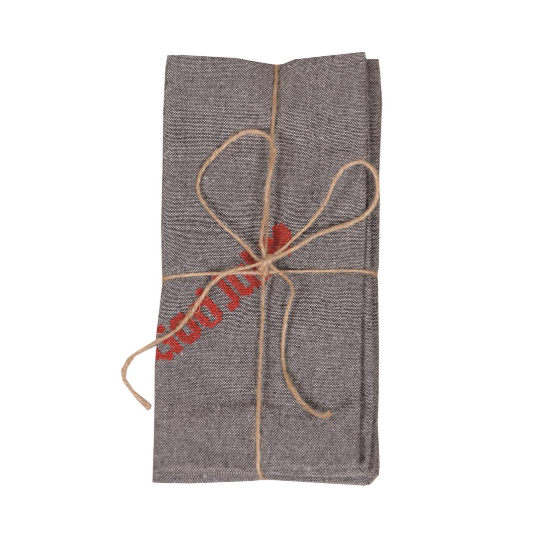 Servett 2 -pack God Jul M.grå