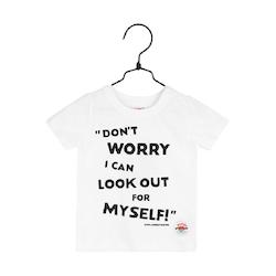 PIPPI LÅNGSTRUMP Don't worry t-shirt vit