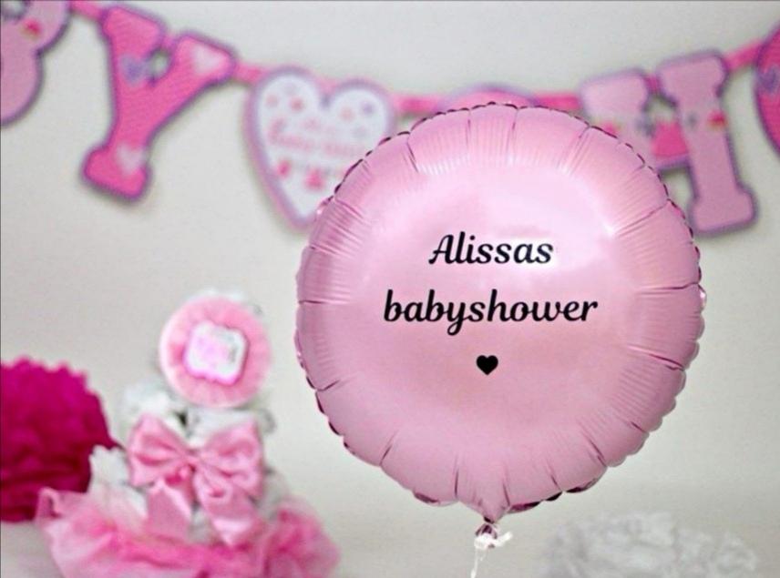 Personliga ballongtryck > Babyshower