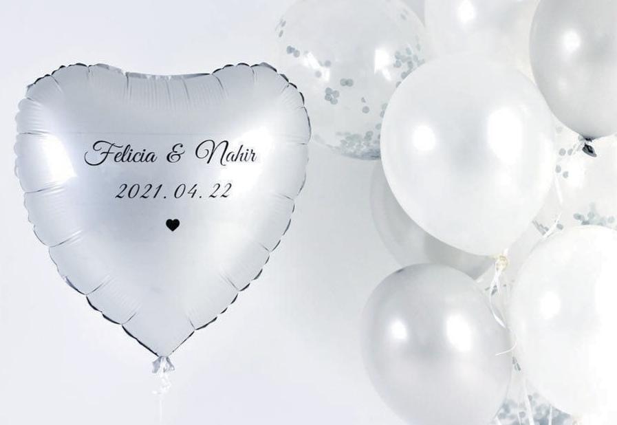Personliga ballongtryck > Bröllop