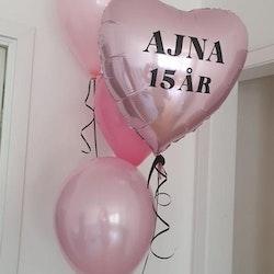 Ballong med tryck (helium ingår)