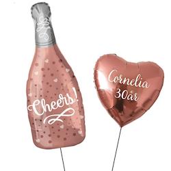 Champagneflaska+  Personlig ballong