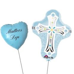 XL Kors+Personlig ballong