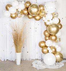 Guldig ballongbåge
