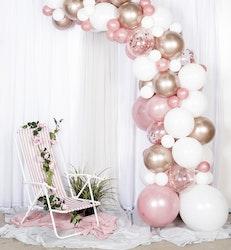 Roseguld ballongbåge