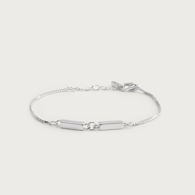 linked bracelet silver