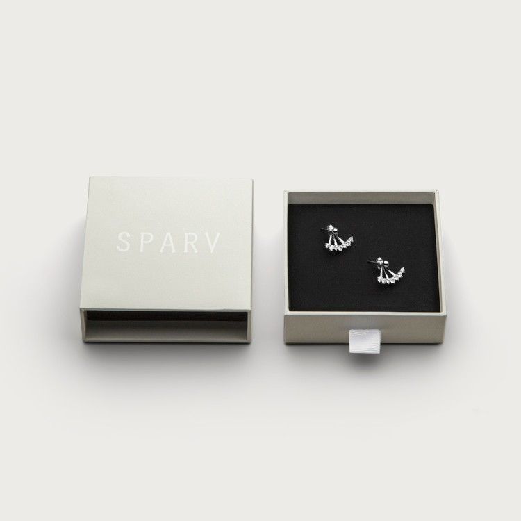sparkles earrings jewelry box