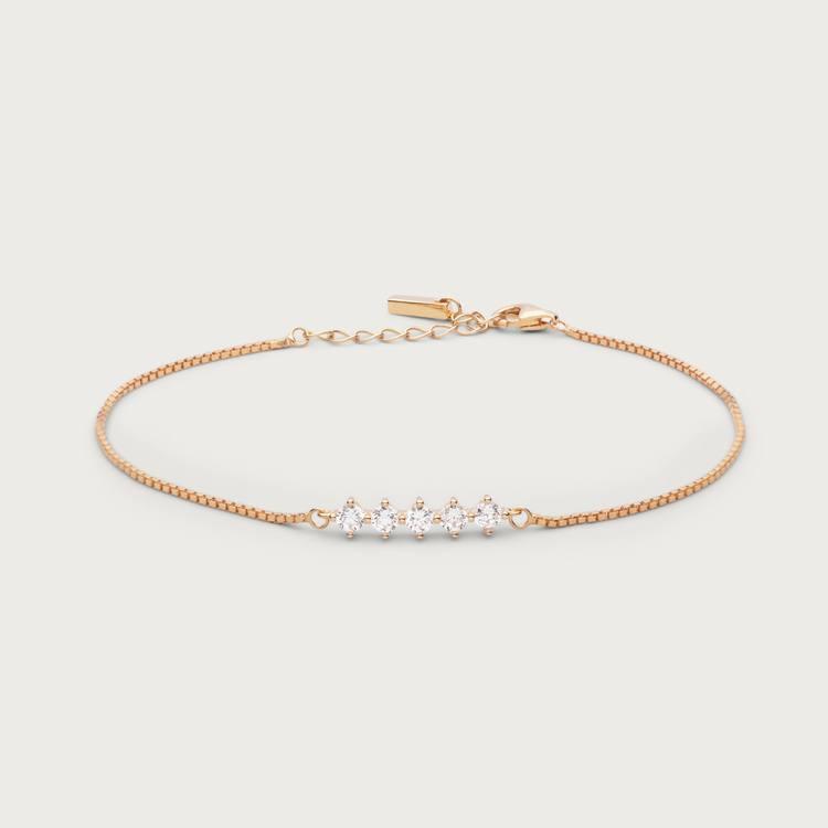 Night sky bracelet gold plated