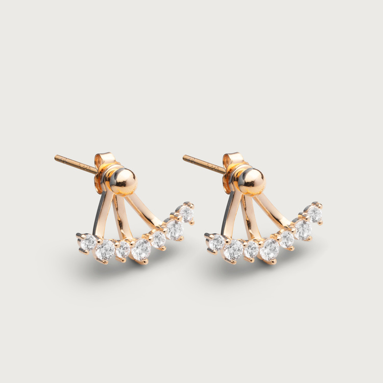 Sparkles earrings gold plated