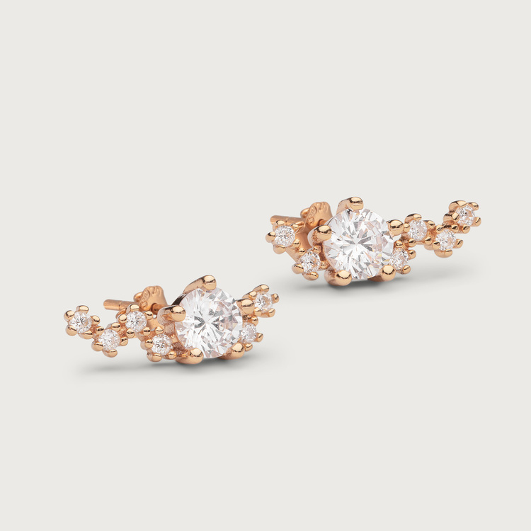 Midnight earrings gold plated