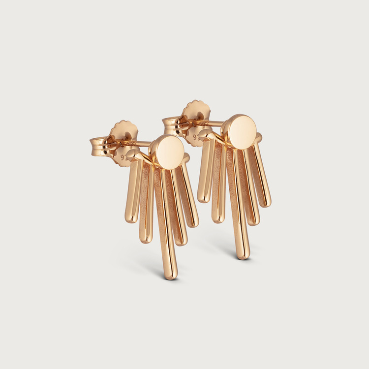 Twisted earrings gold plated