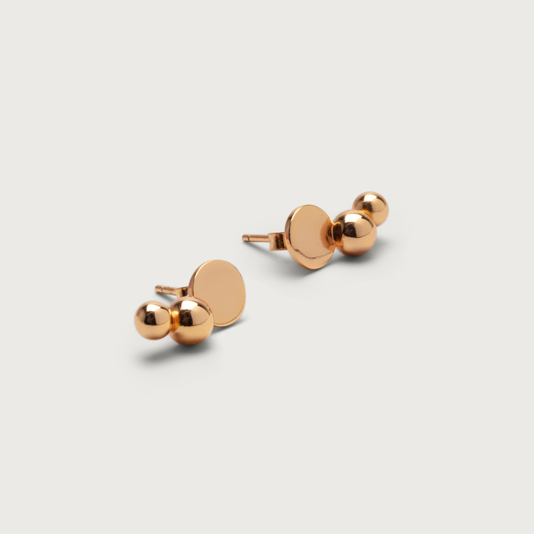 Trio earrings gold plated
