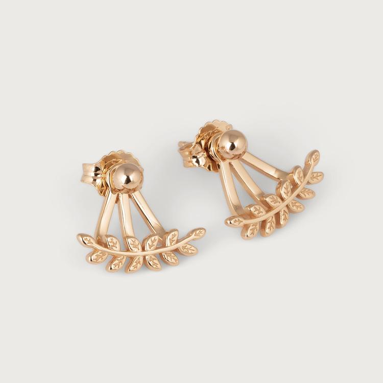 Leaf earrings gold plated
