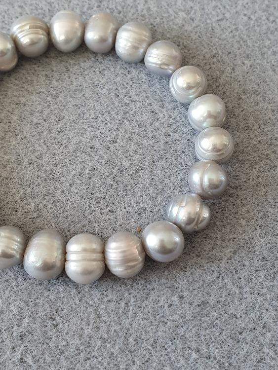 Perle natur grå/sølv
