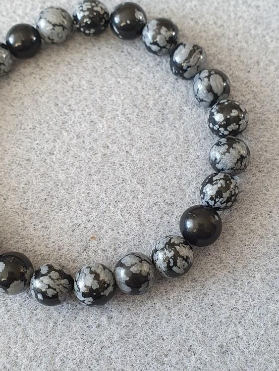 Snøfnugg obsidian 8mm