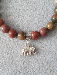 Bilde jaspis med elefant charms