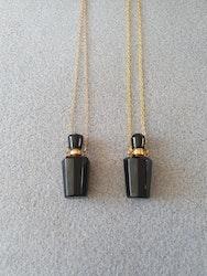 Parfymeflaske svart obsidian