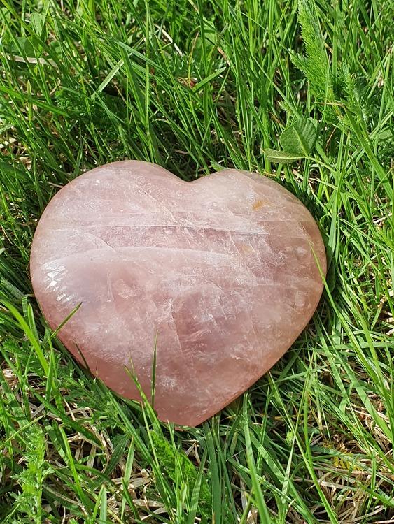 Rosenkvarts hjerte 10,5 cm