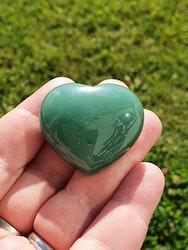 Grønn aventurin hjerte