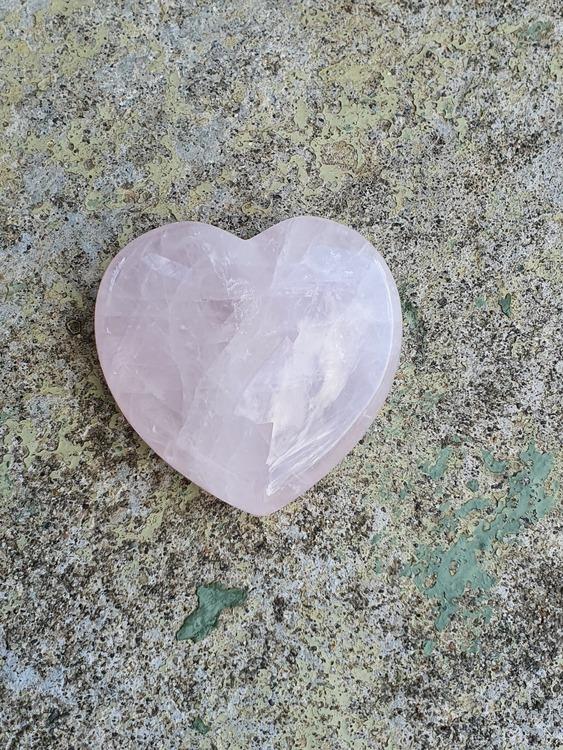 Rosenkvarts hjerte 5 cm