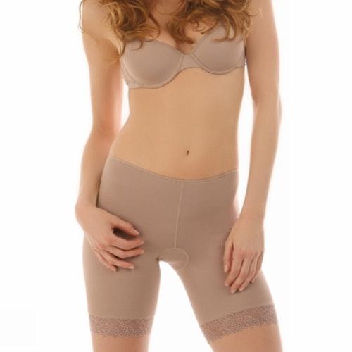 Avet boxertrosa med spets nude