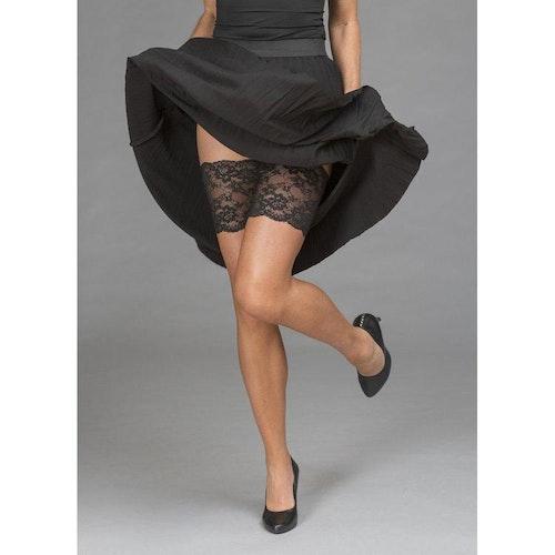 Trofé Thigh lace Strumpeband svart