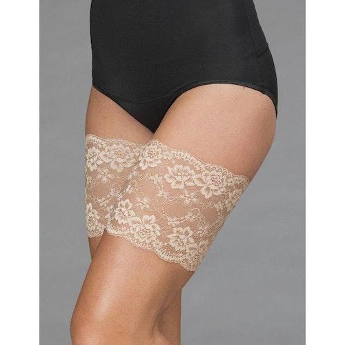 Trofé Thigh lace Strumpeband nude