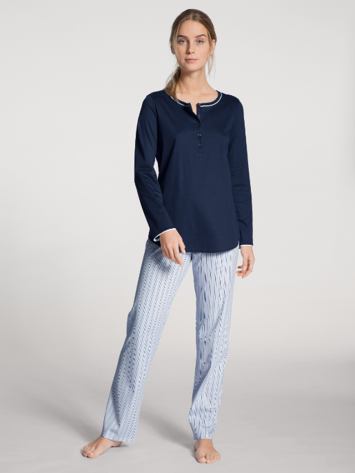 Calida Sweet Dreams Pyjamas Peacoat blue