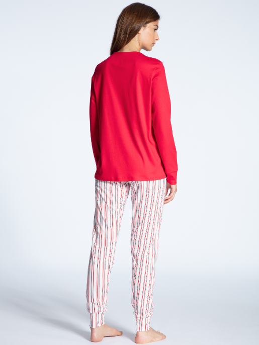 Calida Cosy Emotion pyjamas Scarlet Red