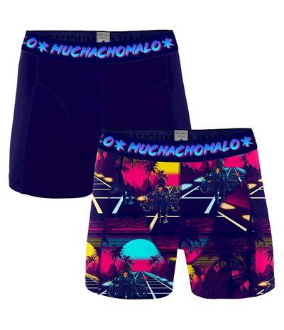 Muchachomalo Män 2 pack boxer shorts Retro Wave