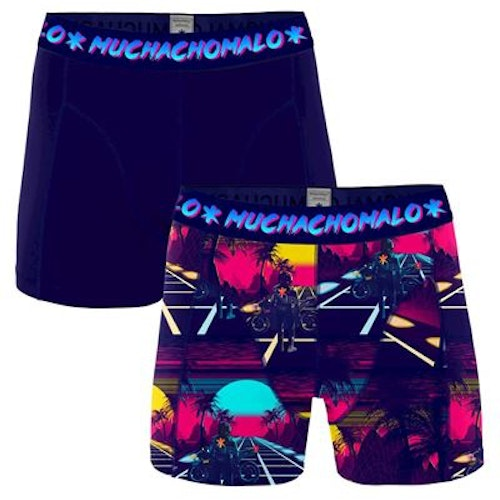 Muchachomalo Män 2 pack boxer shorts Retro Wave