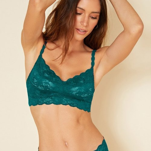 Cosabella Never Say Never Sweetie bralette Deep green