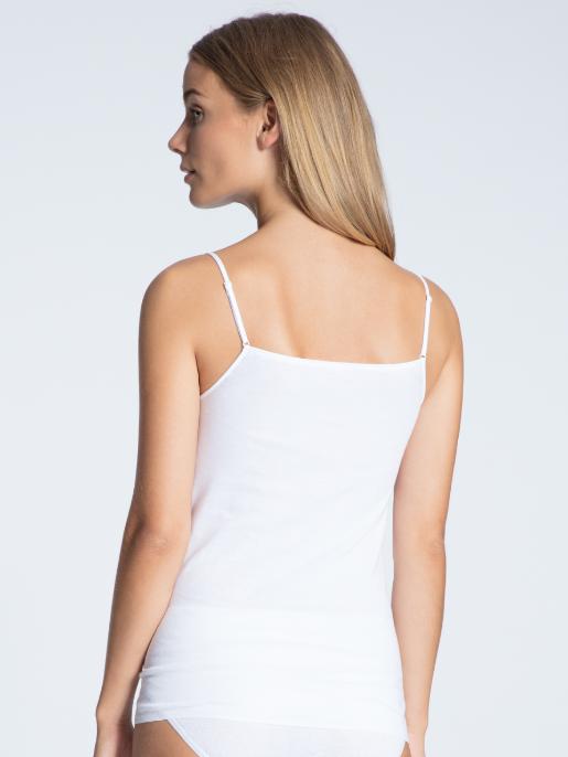 Calida Cotton Finerib speghetti linne VIT