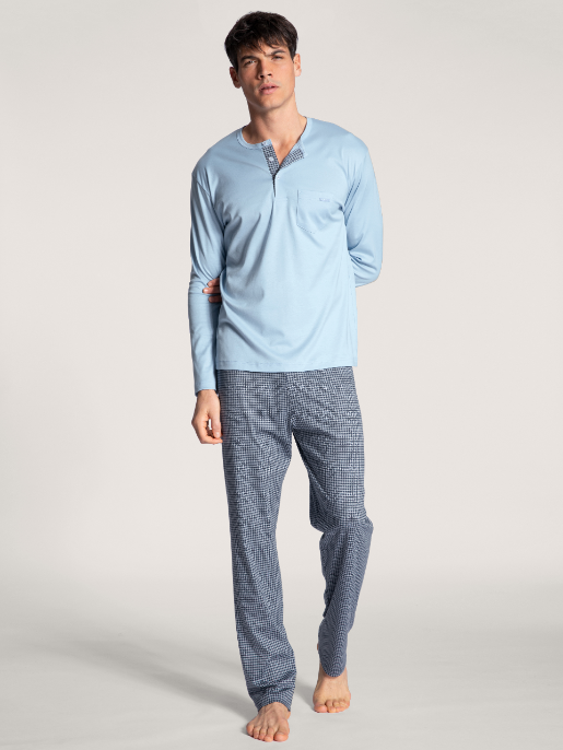 Calida Relax Choice herrpyjamas Placid Blue
