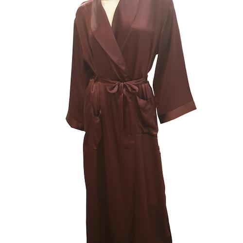 Damella silke kimono Aubergine