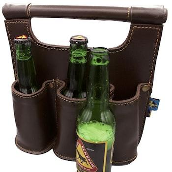 Edles Leder-Sixpack für Bier
