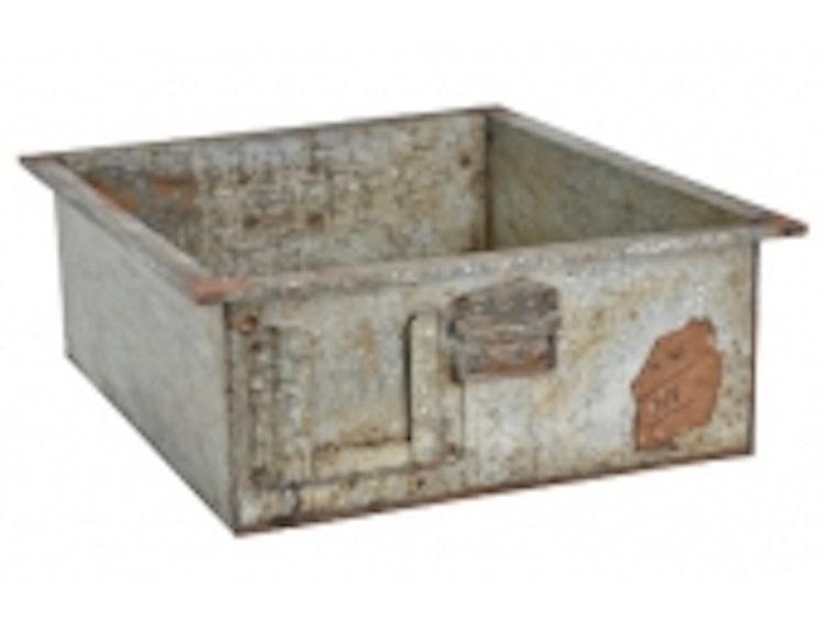 Metall låda industristil